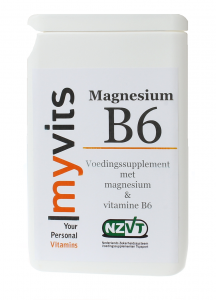 Magnesium & vit B6 120 stuks. Aangevuld met vitamine B6 MyVits